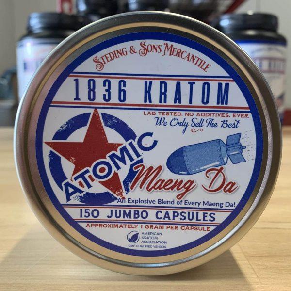 1836 Kratom Jumbo Capsules - Kratom Capsules, Premium - Whole Earth Gifts