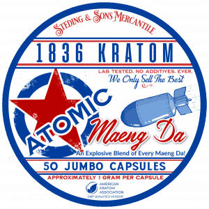 1836 Atomic Raw Capsules Label