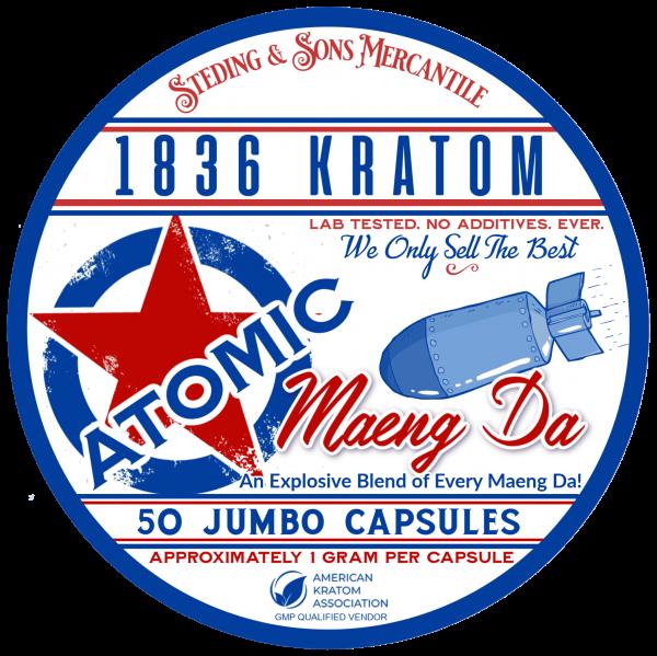 1836 Atomic Raw Capsules Label