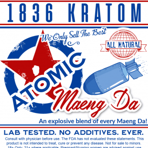 1836 Atomic Raw Powder Label