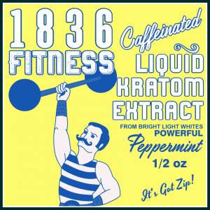 1836 Fitness Peppermint Label