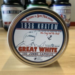 1836 Kratom Great White 150 Caps