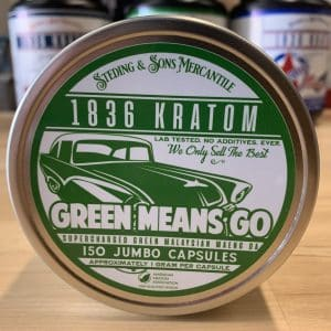 1836 Kratom Green Means Go 150 Caps