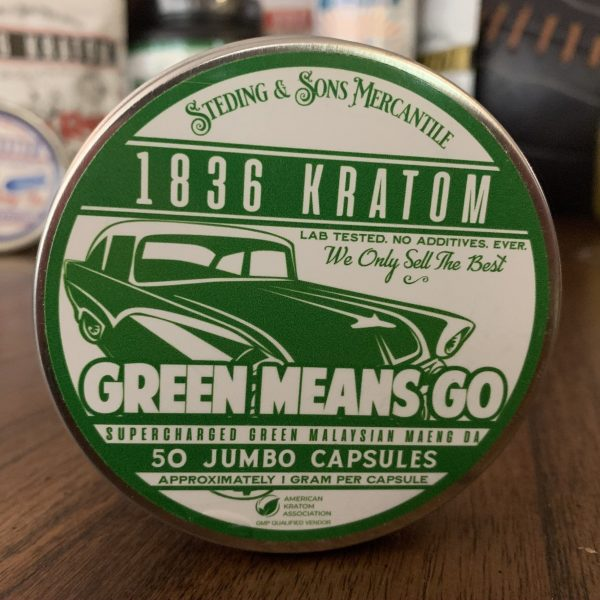 1836 Green Kratom Capsules, 1836 Kratom Green Means Go 50 Caps, Brands, 1836 Kratom, Whole Earth Gifts