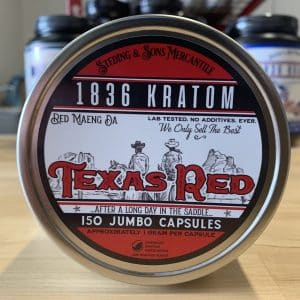 1836 Kratom Texas Red 150 Caps