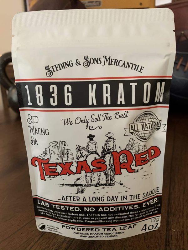 1836 Kratom Texas Red 4oz