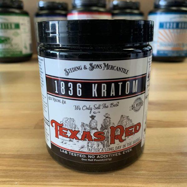 1836 Red Kratom Powder, 1836 Kratom Texas Red 8oz, brands, 1836 Kratom, Whole Earth Gifts