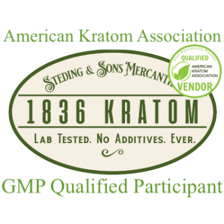 1836 Kratom with American Kratom Association Stamp