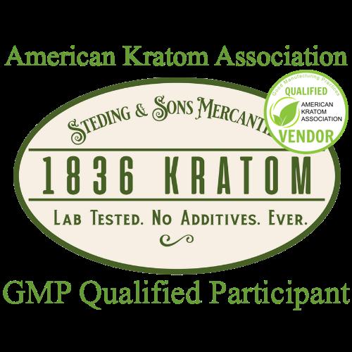 1836 Kratom with American Kratom Association Stamp