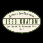 1836 logo green and cream small