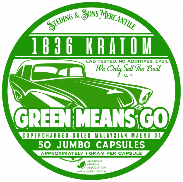 Green Means Go - 50 Capsule Tin FRONT