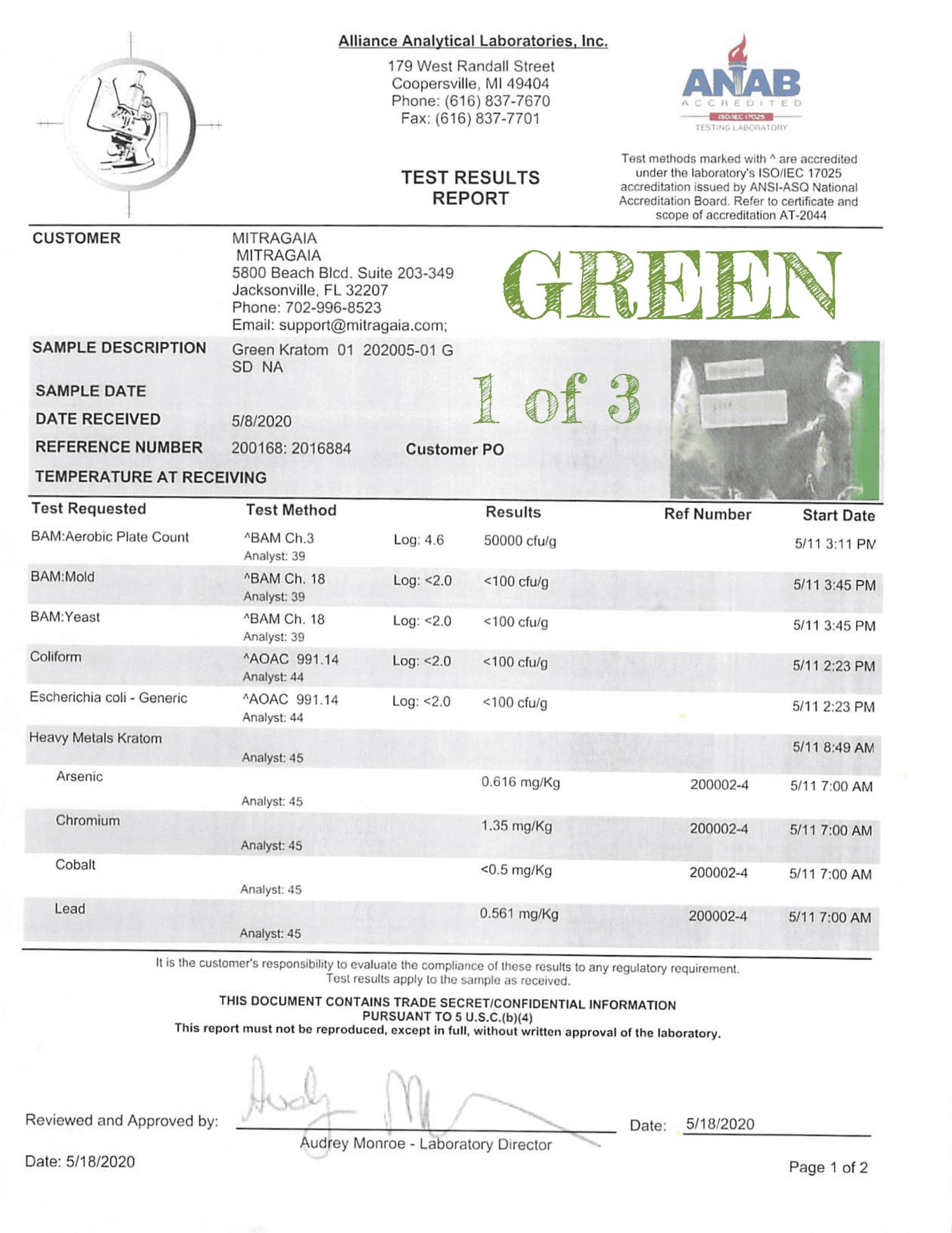 Whole Earth Lab Tests Green 1 of 3 WholeEarthGifts.com