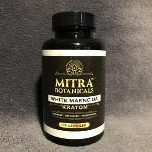 Whole Earth Gifts Mitra Botanicals White Maeng Da 75 Count Kratom Capsules wholeearthgifts.com