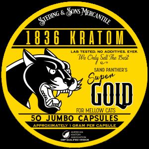 1836 Kratom Sand Panther's Super Gold