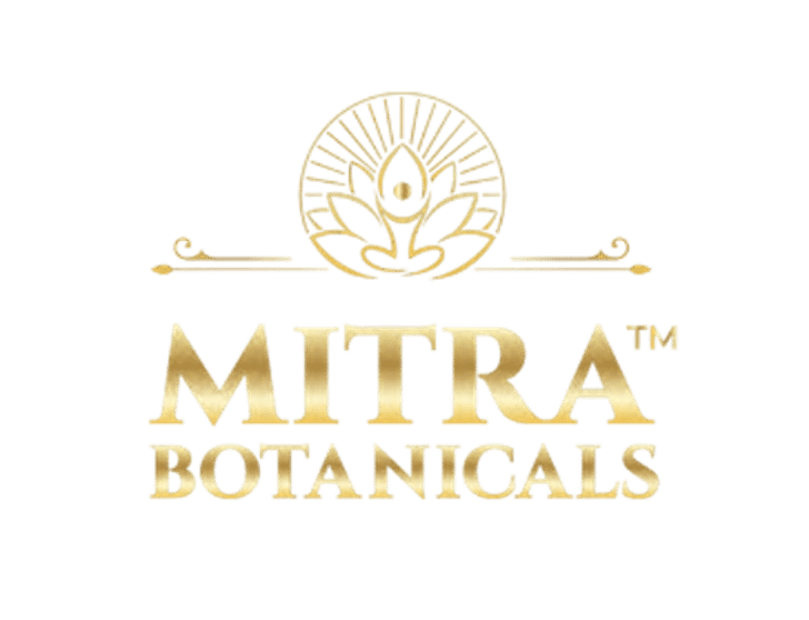Mitra Botanicals Logo Gold wholeearthgifts.com