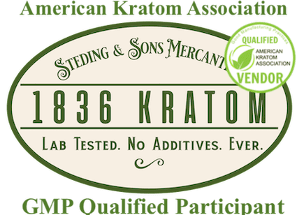 lab tests, Indonesian Sunrise Capsules, Whole Earth Gifts Lab Tests 1836 Kratom Logo with AKA Stamp