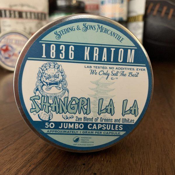 shangri la la capsules, 1836 Kratom Shangri La La Jumbo Capsules 50 wholeearthgifts.com