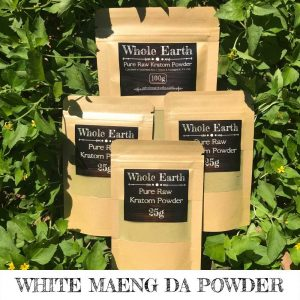 Kratom Powder Sample Pack, Kratom Kilos and Splits, Whole Earth White Maeng Da Premium Kratom Powder