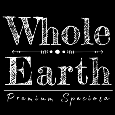 Whole Earth Premium Speciosa Black on White Logo