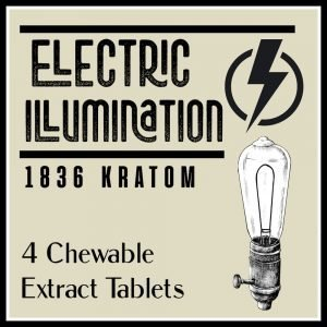 Whole Earth Gifts 1836 Kratom Electric Illumination Label