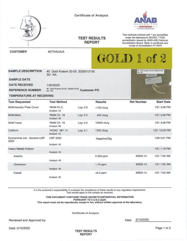 Mix & Match Kratom Capsules, Whole Earth Lab Tests Gold 2 of 2