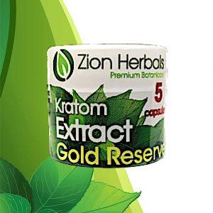 Zion Herbals Gold Reserve 5ct. Kratom Extract Capsules.jpg