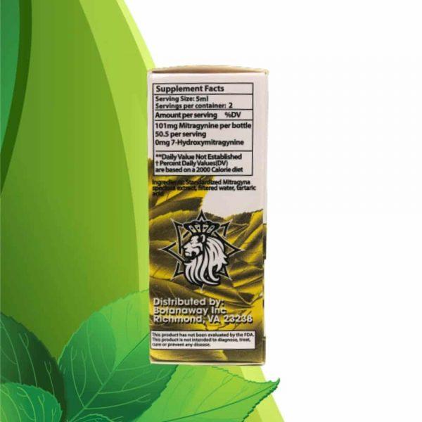 Zion Herbals Lucky 80 Liquid Kratom Extract Back 2
