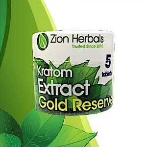 Zion Herbals Gold Reserve 5ct. Kratom Extract Tablets