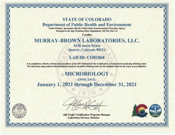 Kratom Lab Tests Murray-Brown Certification 2021