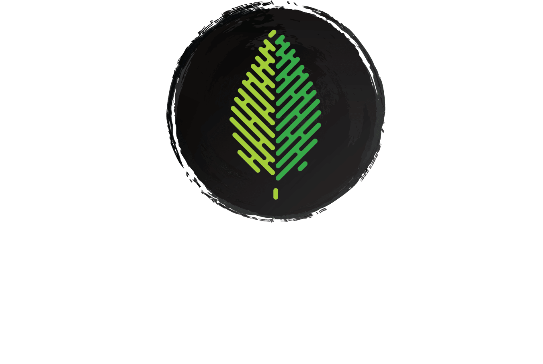 Whole Earth White Logo w:Green Leaf